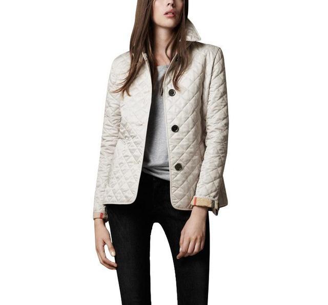 Женщины Куртки Обычная Осень Пальто Хлопка Мягкий Повседневная Пальто Куртки Мода Верхняя Одежда Плед Квилтинга Стеганый Парки