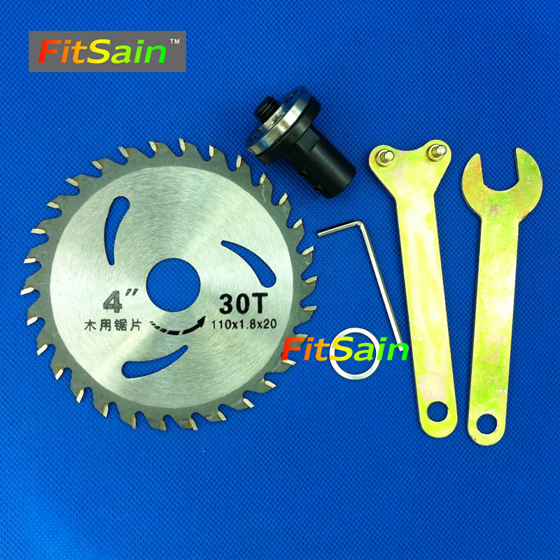 """FitSain--4"""" 110mm Electric saw blade wood cutter cutting disc Used for motor shaft 5mm/6mm/8mm/10mm/12mm for Adapter coupling"""