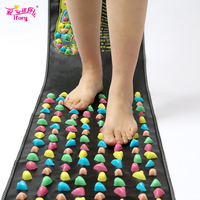 Ifory Chinese Health Care Foot Massager Cushion Colored Plastic Walk Stone Carpet Decrease Stress And Relief