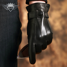 Special Offer Mens High-Level Touch Screen Autumn & Winter Comfort Soft Genuine Leather Goat Skin Gloves Free Shipping