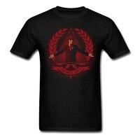 Men's Vintage New World Order t-shirt Screen Print Poisson d'avril Gifts Tops Adult Yellow T-Shirt Short-sleeve