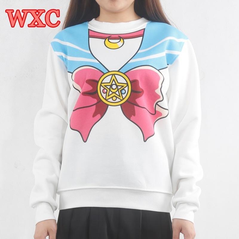 nueva estilos 82fdc 05bb3 US $11.86  Sailor Moon Women Hoodies Japanese Sweatshirt Sudadera Kawaii  Ropa Kawaii De Anime Warm Pullover Sweatshirt WXC-in Hoodies & Sweatshirts  ...