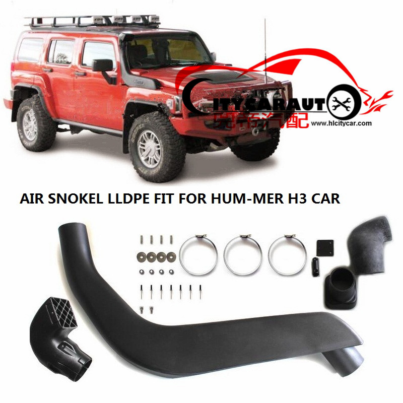 CITYCARAUTO AIRFLOW PIPE SNORKEL FOR HUMMER H3  Air Intake LLDPE MANIFOLD Kit Set FIT H3 2005-2011 AUTO ACCESSORIES
