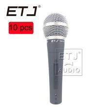 SM 58SK ETJ Marca 10 pcs de Alta qualidade por atacado Frete grátis handheld Karaoke microfone com fio dinâmico vocal microfone SM 58