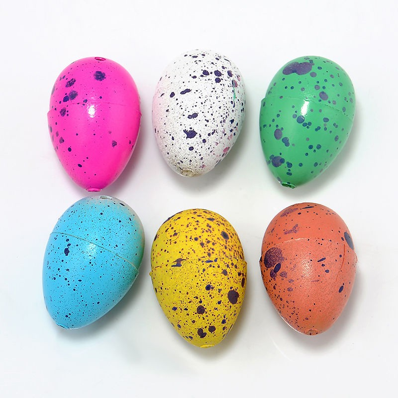 6 Pcs Magic Water Growing <font><b>Egg</b></font> Hatching <font><b>Dinosaur</b></font> Cracks Grow <font><b>Eggs</b></font> Funny Children Kids <font><b>Toy</b></font> Random Color image