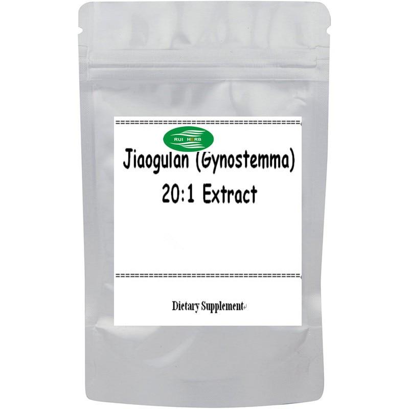Jiaogulan (Gynostemma) 20:1 Extract Powder free shipping free shipping pure nature raspberry extract raspberry ketones powder 500mg x 100caps