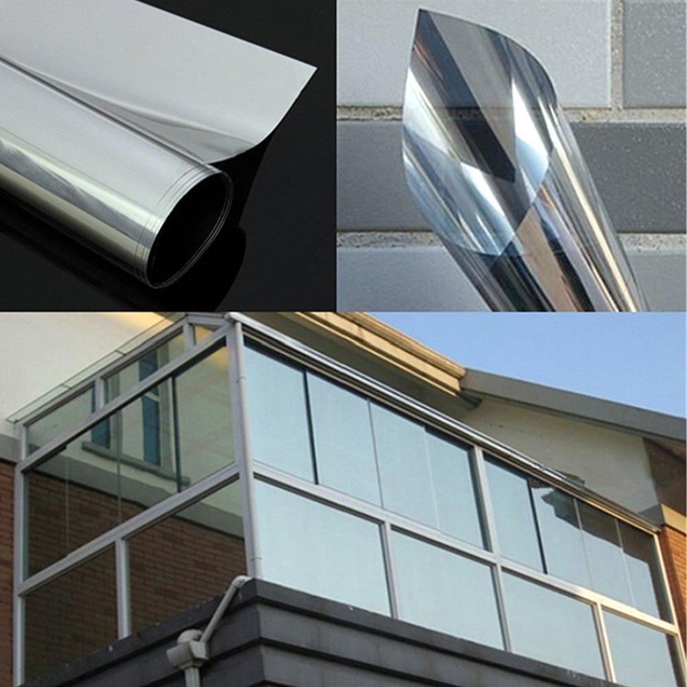 Multi-Width , Length 2/3/5 m One Way Mirror Window Film.Self-adhesive Reflective Privacy Glass Tint,Heat Control Solar film 3