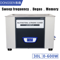 30L Ultrasonic Cleaner Bath Power Time Temperature Adjustable Sweep Frequency Degassing Function Sleeping Mode Cleaning Machine