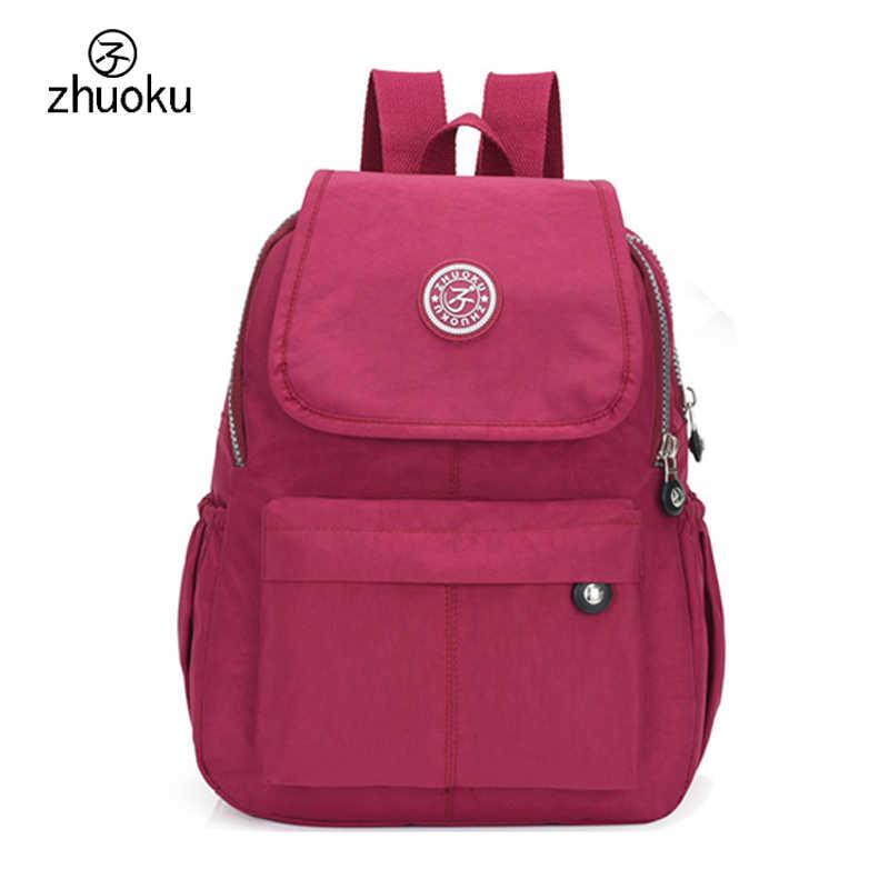 047a64daeaa6 Школьный рюкзак для девочки-подростка Mochila Feminina Для женщин рюкзаки  нейлон Водонепроницаемый Повседневное рюкзак для