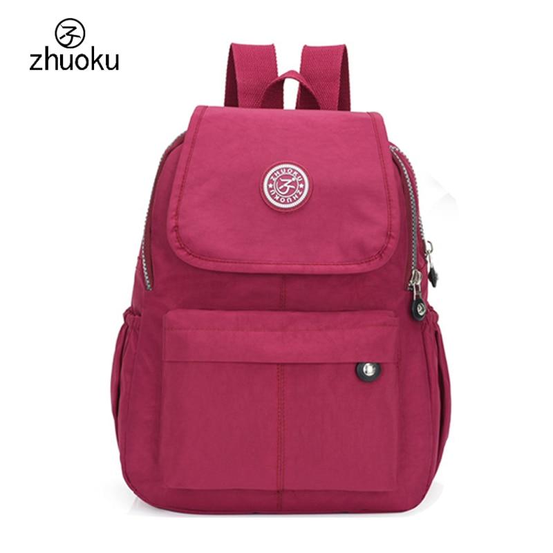 School Backpack for Teenage Girl Mochila Feminina Women Backpacks Nylon Waterproof Casual Laptop Bagpack Female Sac A Do ZK603