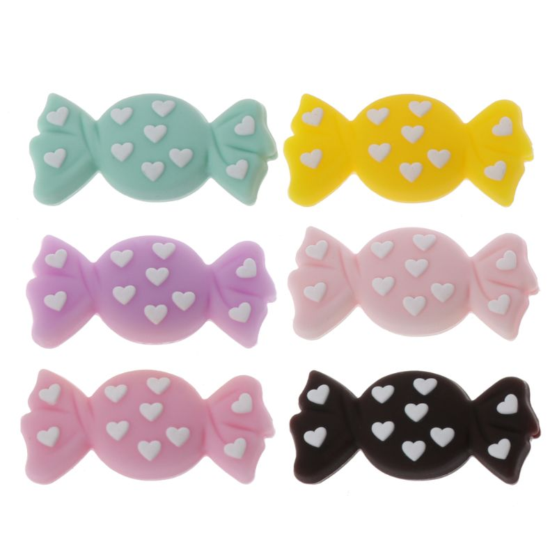 Silicone Beads DIY Teething Baby Teether Candy Cute Colorful Oral Care Bite Chew Newborn Safe Food Grade Crafts Pendant Feb-15