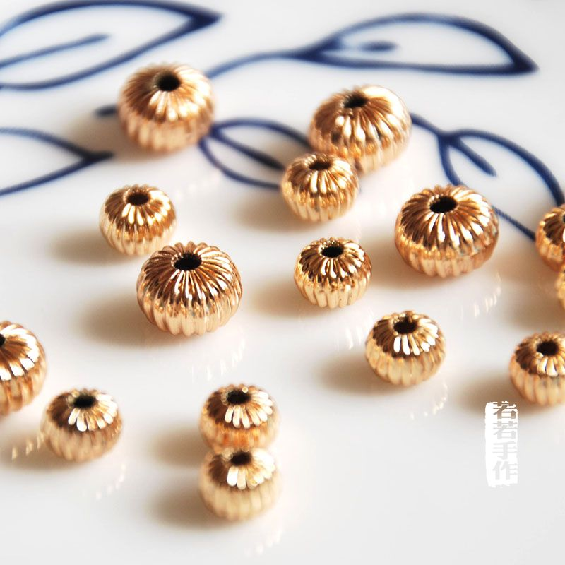 Fabulous 10 Pcs Lot Gold Plated Hollow Balls Loose Diy Materials Bracelet Wiring Cloud Hisonuggs Outletorg