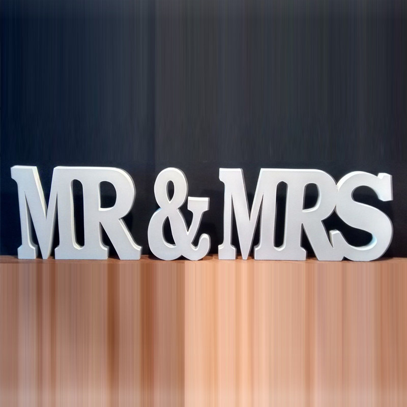 Free shipping wedding gift mr mrs letters mr mrs sign for Large wooden letters
