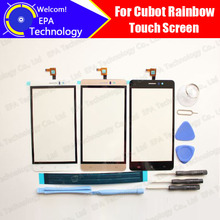 Cubot Rainbow Digitizer Touch Screen 100% Guarantee Original Glass Panel Touch Screen Digitizer For Rainbow +tools+ Adhesive
