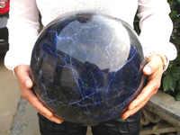 Ddh001150 ENORME NATURAL sodalita cuarzo cristal esfera bola la sanidad