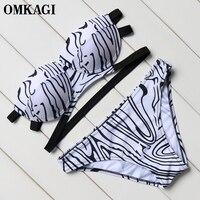 OMKAGI Bikinis Set Swimsuit Women Swimwear Sexy Bikini Bandage Beachwear Swim Suit Swim Wear Bathing Suit