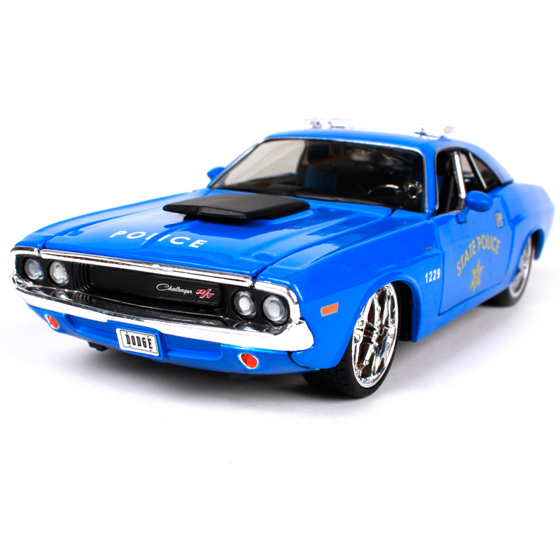 Maisto 1:24 1970 Challenger R/T Coupe blue car diecast for police Dodge car toy model motorcar collecting version for men 31129 модель автомобиля 1 24 motormax dodge charger r t 2011