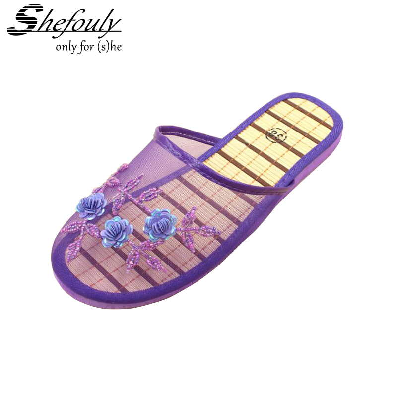 2017 summer new simple bamboo home slippers pineapple for Minimalist house slippers