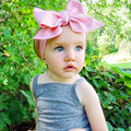 2017 New Fashion Baby Solid Cotton Hair Bow Headband  Toddler Handmade Stretch bandage With Bow Boutique Cute Hair Accessories
