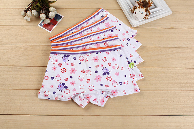 children underwear girls baby shorts kids boxers cartoon Purple small bee panties kids underwear,Lovely girl Panties 2-8year