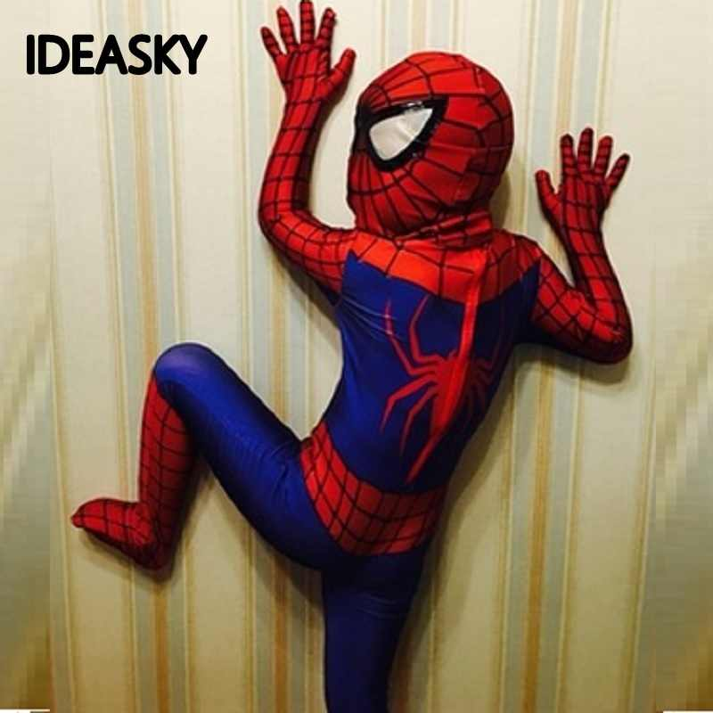 halloween costumes for children kids spandex the amazing spiderman costume  spider man spider-man costume cosplay boys Superhero
