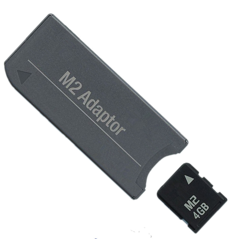 NEW!!! M2 Memory Card Micro CARD 4GB Memory Card + M2 to Memory Stick MS Pro Duo PSP Adapter