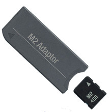 NEW!!! M2 Memory Card Micro CARD 4GB Memory Card + M2 to Memory Stick MS Pro Duo PSP Adapter цена
