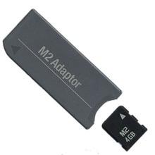NUOVO!!! Scheda di Memoria M2 Micro CARTA 4 GB Scheda di Memoria + M2 Memory Stick MS Pro Duo PSP Adattatore