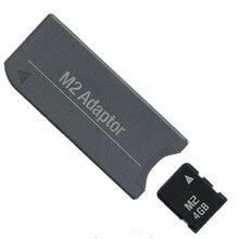 Nouveau!!! Carte mémoire M2 carte Micro 4 go carte mémoire + M2 à barrette mémoire adaptateur MS Pro Duo PSP