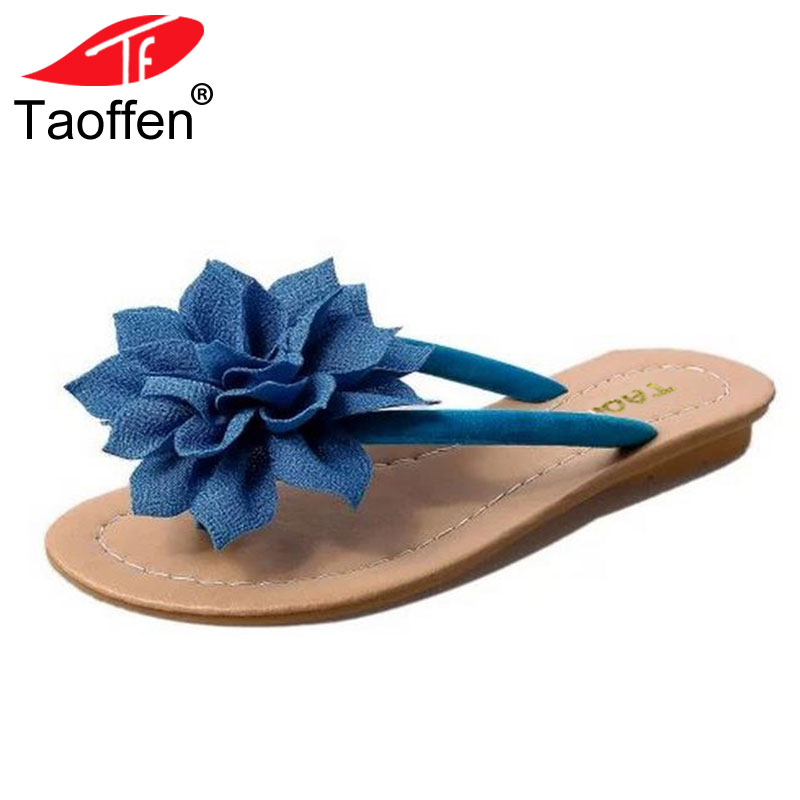 TAOFFEN flower brand quality leisure women sandals slippers summer shoes beach flip flops women footwear size 36-40 WA0183 new pattern brand quality leisure women sandals slippers summer fashion shoes beach flip flops women footwear size 36 40 wa0182