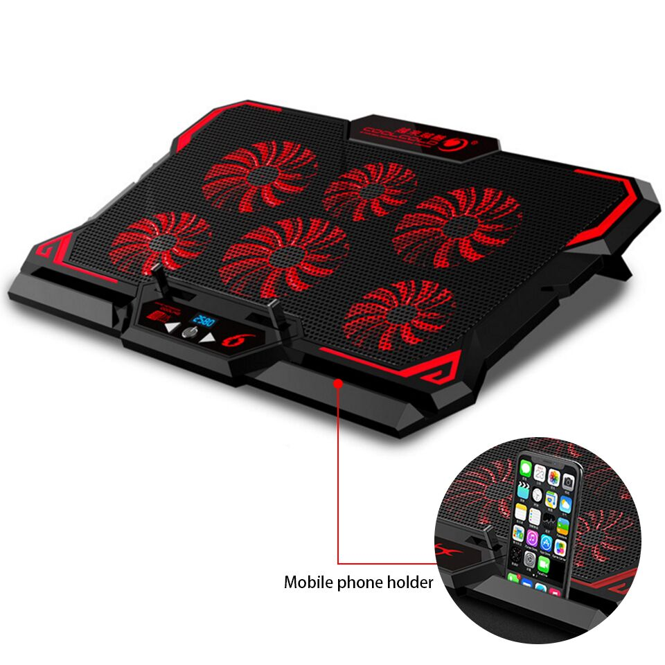 Laptop cooler 2 USB Ports and Six cooling Fan laptop cooling pad Notebook Stand for 12-15.6 inch for LaptopLaptop cooler 2 USB Ports and Six cooling Fan laptop cooling pad Notebook Stand for 12-15.6 inch for Laptop