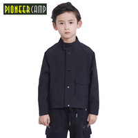 Pioneer Camp Kids Boys Jacket Autumn and Spring New Children Causal fashion Jacket Boys Bomber Embroidery Jackets Outwear
