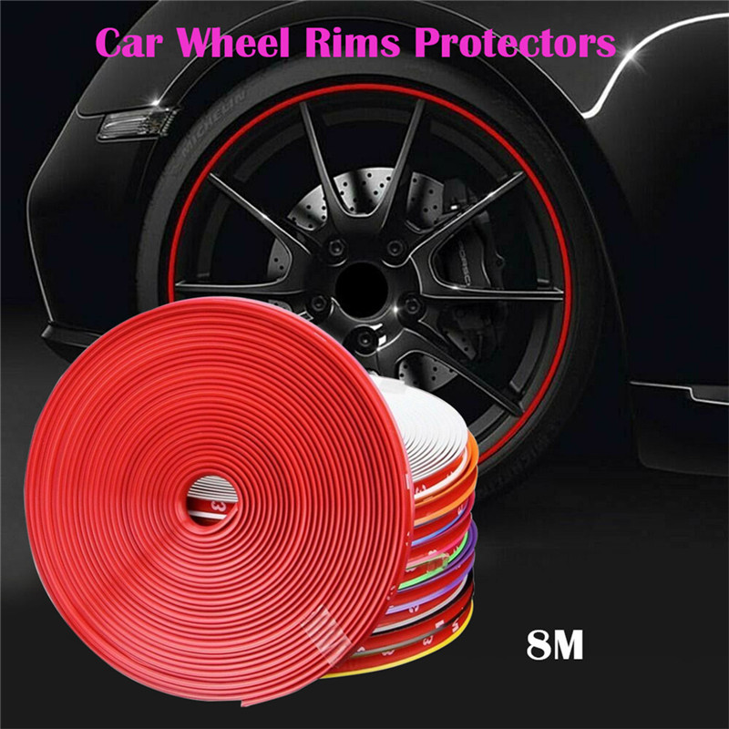 2 Pcs Car SUV Motorcycle Wheel Rim Protector Tyre Remove Edge Strips Protection