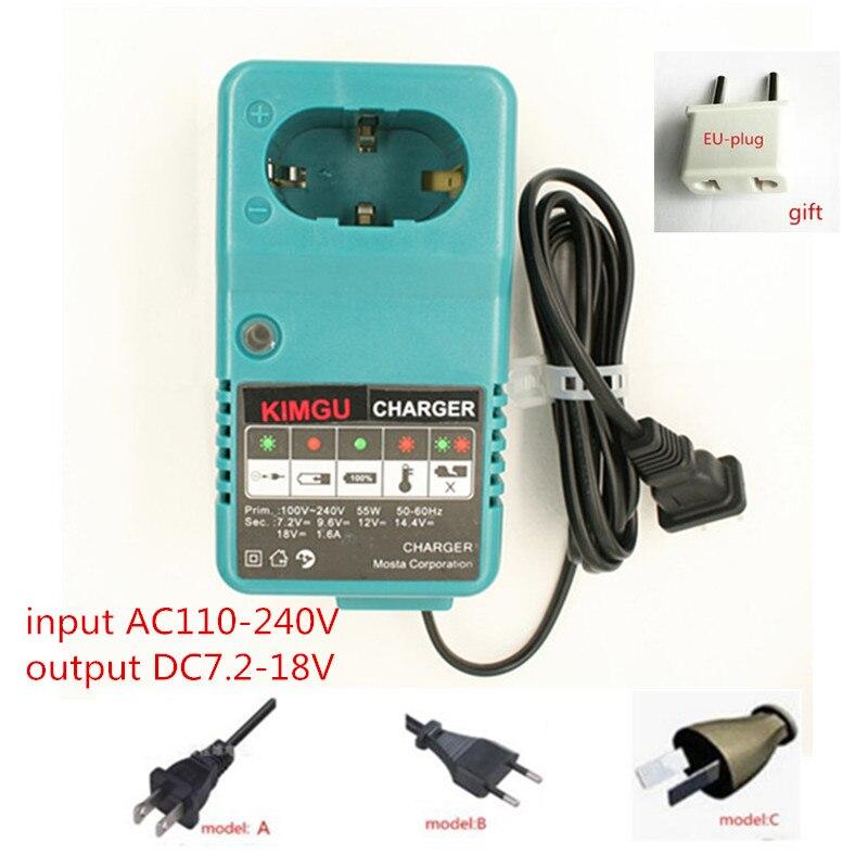 AC100-240V Charger Replace For MAKITA 7.2V 12V 14.4V 18V 4093D 4190D 4190DW 4300D 4390D 5090D 6012HDL NI-MH NI-Cd battery Only 110 240v al1411dv replace ni cd battery charger for bosch charger gdr12v gsb12v gsb14 4v gsr 7 2v gsr9 6v gsr12v gsr14 4v gsr18v