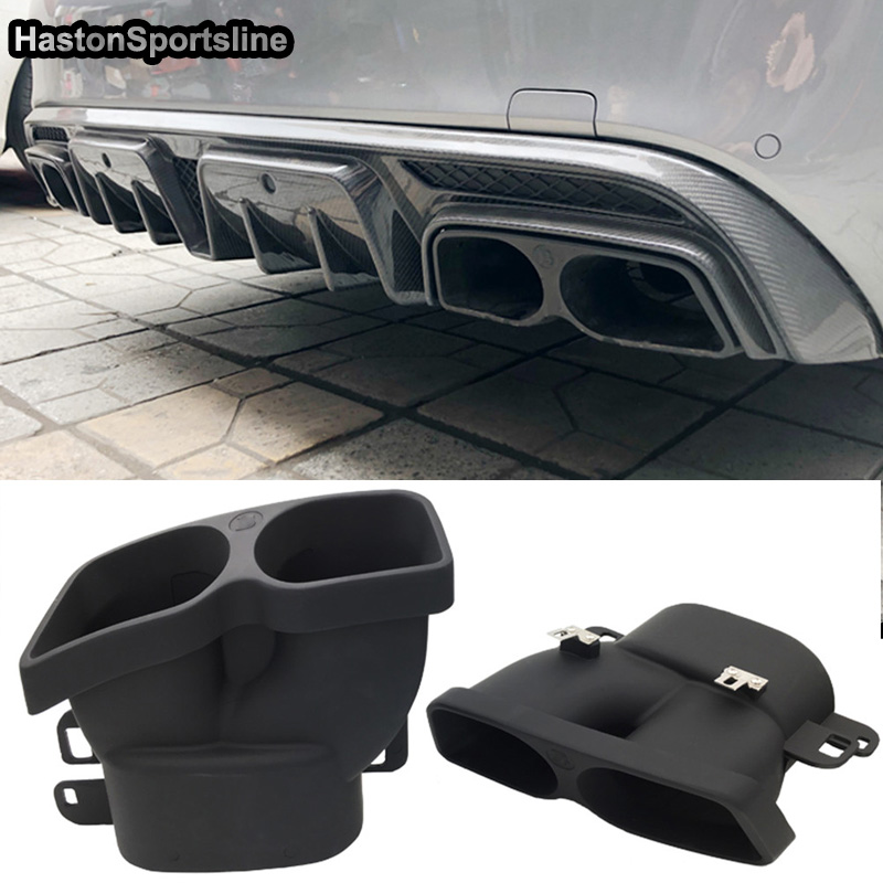 For Brabus Style Exhaust Pipe Muffler for Mercedes-Benz C-Class W205 C63 AMG C180 C200 C250 C300 image