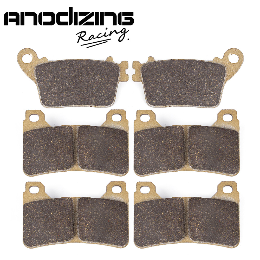 Motorcycle Front and Rear Brake Pads For HONDA CBR600RR 2007-2011 motorcycle brake pads ceramic composite for triumph 800 tiger 2011 2014 front rear oem new high quality zpmoto