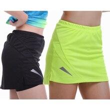 Оранжевые юбки для тенниса, йоги, фитнеса, короткая юбка для бадминтона, дышащие быстросохнущие женские спортивные юбки для пинг-понга, настольного тенниса