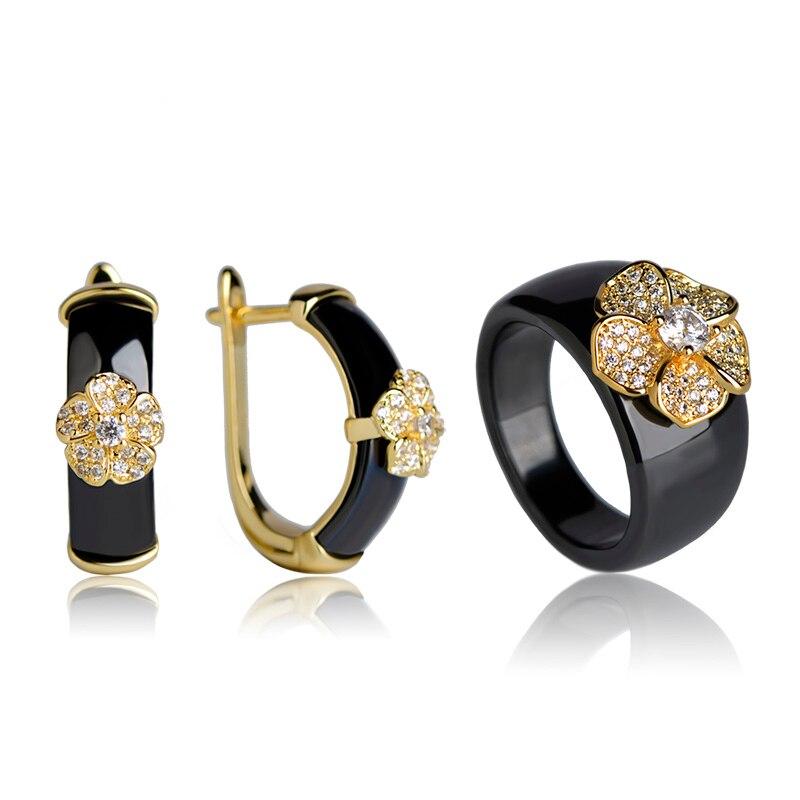Չինական ոճով սև կլոր ցիրկոնով - Նորաձև զարդեր - Լուսանկար 3