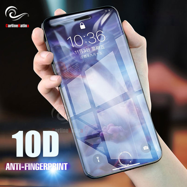 4b50b008267 10D Full Cover Tempered Glass Screen Protector for iphone Xs Max XR 8 X 10  7 6 6s plus 6.1