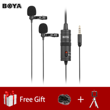 BOYA BY-M1DM Dual Omnidirectional Lavalier Microphone Clip-o