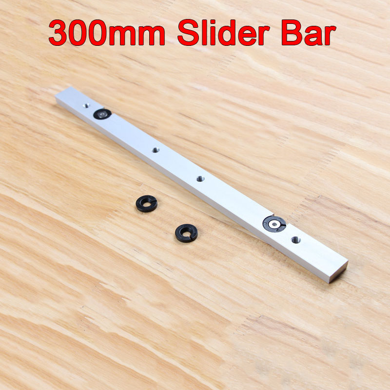 High Quality 2PCS/lot 12inch/300mm Aluminium Alloy Miter Bar Miter Slider Table Saw Miter Gauge Rod durable in use