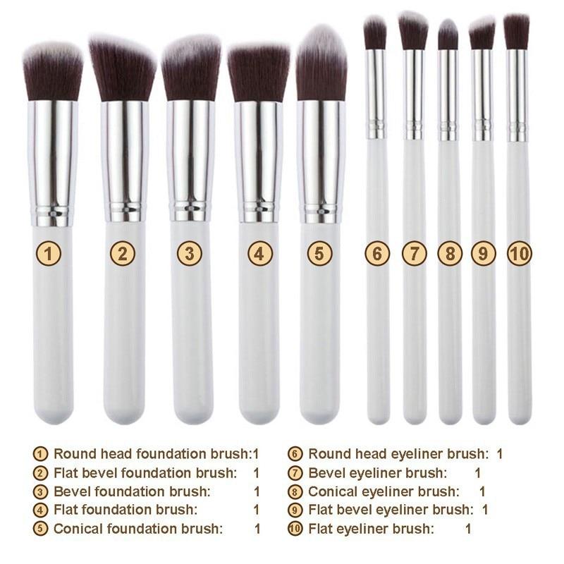 Premium Synthetic Kabuki Makeup Brush Set 10pcs Kabuki Kit F80 F82 F84 F86  F88 AND P80P82P84P86P88 MAKEUP BRUSHES-in Eye Shadow Applicator from Beauty  ... 6f14557d07