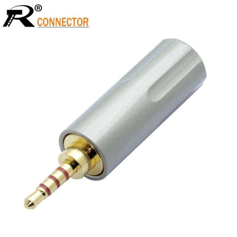 10 sztuk nowy nabytek złącze przewodu Jack 2.5mm 4 polak Stereo wtyk męski Adapter złącze lutowane nadające się do 6mm kabel