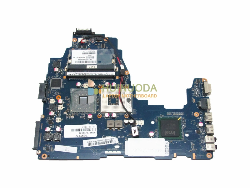 все цены на  original Mainboard For TOSHIBA Satellite C660 K000111590 PWWAA LA-6841P laptop motherboard integrated DDR3 GL40  онлайн