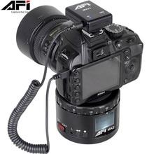 AFI MA2 360 Time Lapse Rotador Câmera de Vídeo Cabeça Panorama Tripé LED Para Canon Nikon Sony DSLR Timelapse Telefone 360 Gopro Panning
