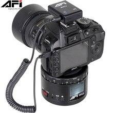AFI MA2 360 zaman atlamalı Video kamera Rotator Panorama Tripod başkanı LED Canon Nikon Sony DSLR telefon 360 Gopro timelapse Panning