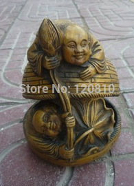 Lovely Old Chinese QingDynasty copper statue /sculpture----children playing ,with mark,best collection