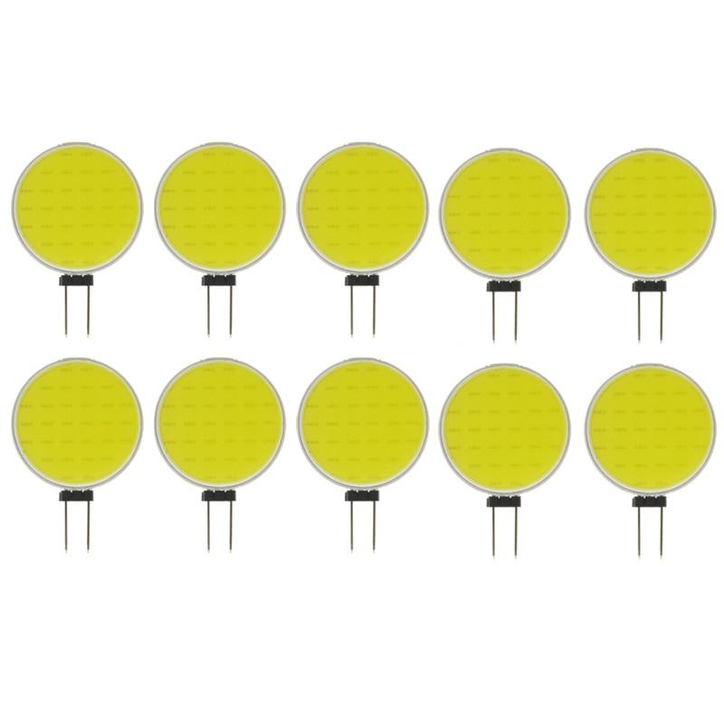 أعلى جودة G4 COB 5 W النقي الأبيض الدافئ LED 30 رقائق استبدال مصباح هالوجين بقعة ضوء لمبة