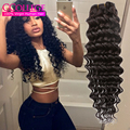 Brazillian Deep Wave Curly Virgin Hair 4 Bundles 7A Mink Brazilian Human Hair Weave Bundles Ccollege Hair Brazilian Deep Curly