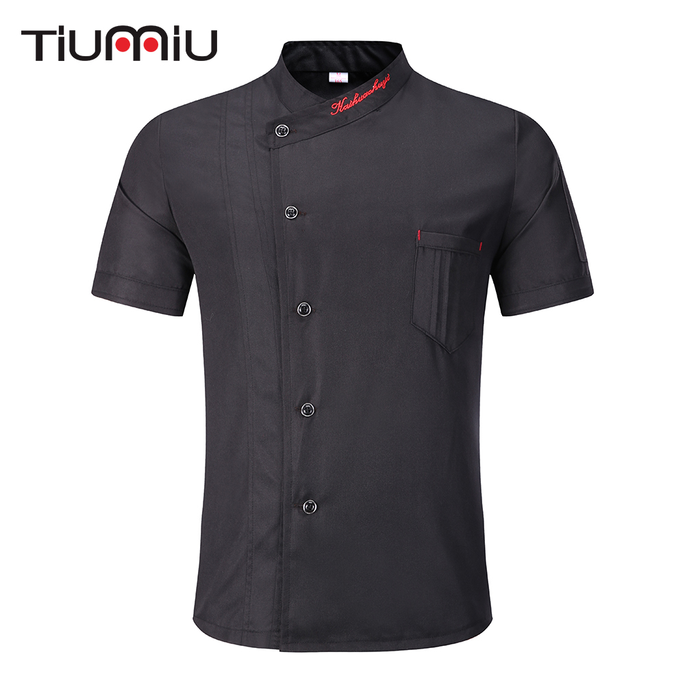 Wholesale Unisex Kitchen Chef Uniform Bakery Food Service Short Sleeve Breathable Double Breasted Catering Cook Wear Chef Jacket